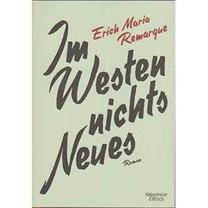 """Erich Maria Remarque: """"Im Westen nichts Neues"""" (Sonderausgabe)"""